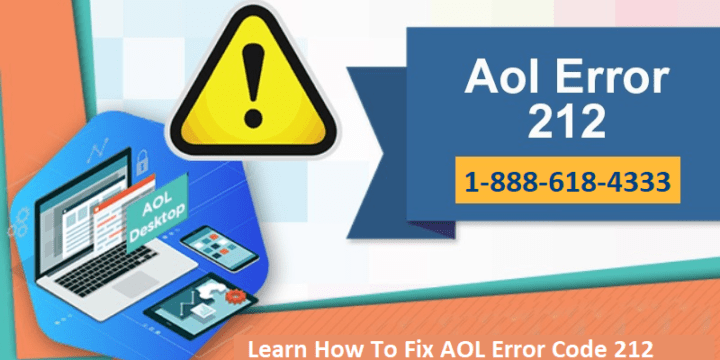 Learn How To Solve AOL Error Code 212 In Simple Steps